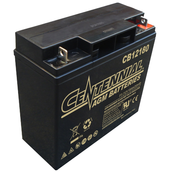 Centennial 12V 18Ah Battery - Battery Systems - Northwest Radio Supply