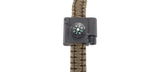 CRKT Paracord Bracelet Accessory: Compass, LED, Firestarter - Blue Ridge Knives - Northwest Radio Supply