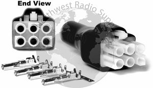 HF 6 pin Power connector for HF Power cords - Powerwerx - Northwest Radio Supply