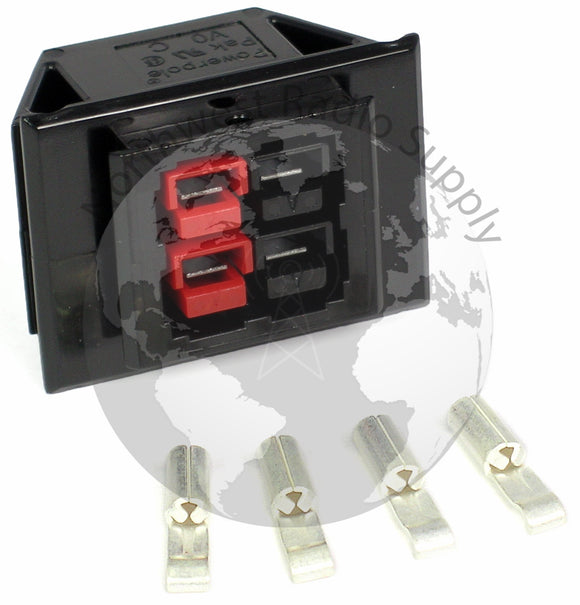 Chassis Mount for 2 Powerpole Connectors Sets (4 conductors) - Powerwerx - Northwest Radio Supply