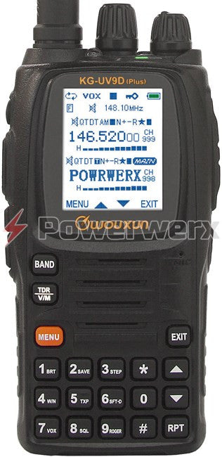Wouxun KG-UV9D Plus U.S. Version 7-Band 999 Channel Dual-Band Handheld Amateur Radio