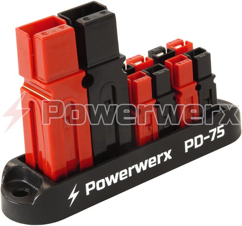75A Input 4 Position Distribution Block for 15/30/45A Powerpole Connectors - Powerwerx - Northwest Radio Supply