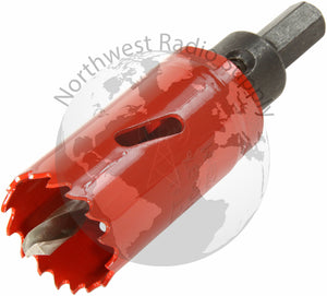 "Hole Saw for Panel Mount Accessories, Arbored 1-1/8"" High Speed - Powerwerx - Northwest Radio Supply"