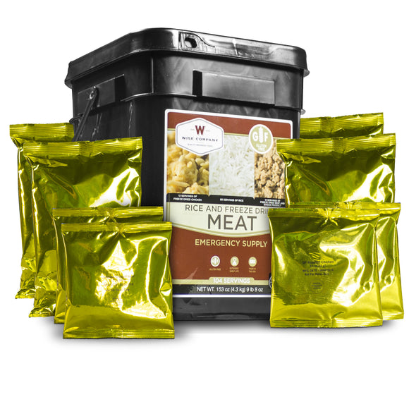 60 Servings of Emergency Freeze Dried Meat - Wise Company - Northwest Radio Supply