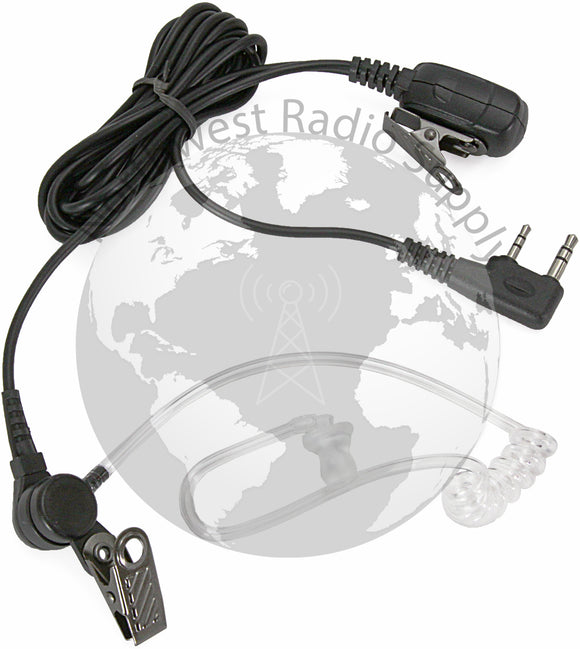 Covert Clear Acoustic Tube Earphone Mic for Wouxun Radios - Powerwerx - Northwest Radio Supply