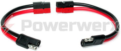 Bullet/SAE Connector to Powerpole Connector - 1 ft. long - Powerwerx - Northwest Radio Supply