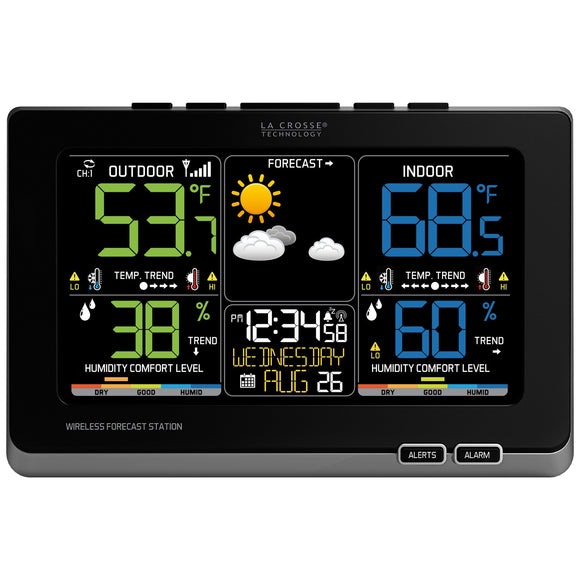 C87214 Multicolor Wireless Forecast Station - Lacrosse Technology - Northwest Radio Supply