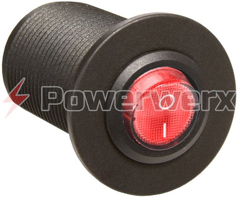 Powerwerx Panel Mount Switch for 12V Systems (Red, Green, or Blue)