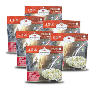Pasta Alfredo with Chicken Camping Food - Wise Company - Northwest Radio Supply