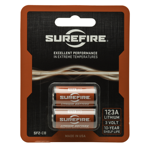 SureFire 3V SF123A CR123A Lithium Batteries SF2-CB - Surefire - Northwest Radio Supply