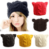 <ly-as-4688034>Image of</ly-as-4688034> Lady Girls Warm Knitting Wool Cat Ear Beanie