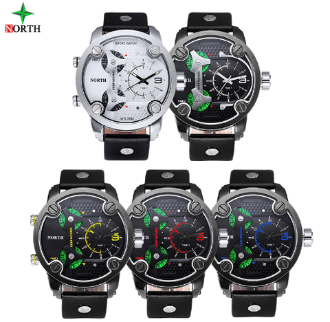 Leather Military Army Waterproof Wrist Watches