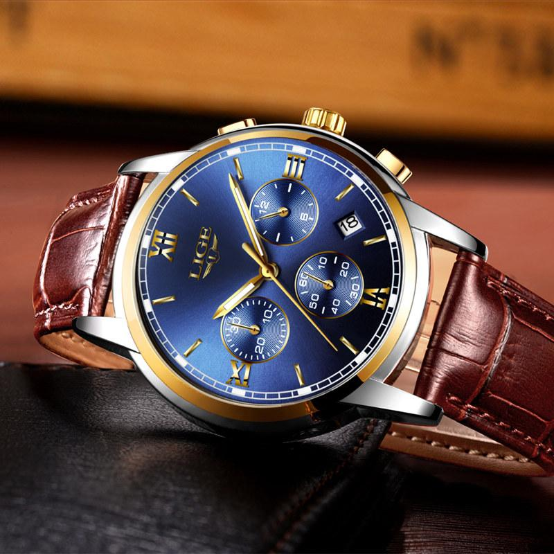 fashion crocodile mens faux aliexpress in item analog watch leather band luxury com watchbands group on watches blue alibaba from new
