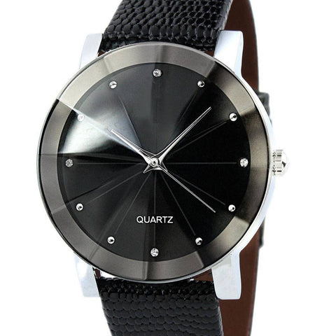 Black Stainless Steel quartz watch