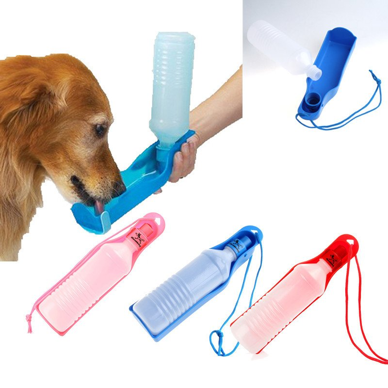 Portable Pet Dog/Cat Water Bottle Drink Dispenser Travel Bowl