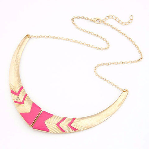 Fashion Vintage Alloy Crescent Personality Short Collar Necklace OFFER!