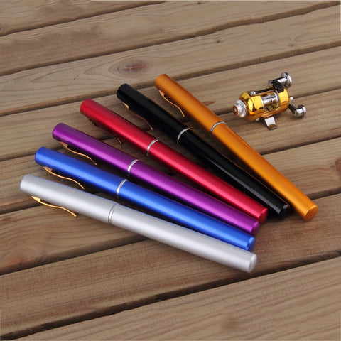 Mini Fishing Pole Aluminum Alloy Pen