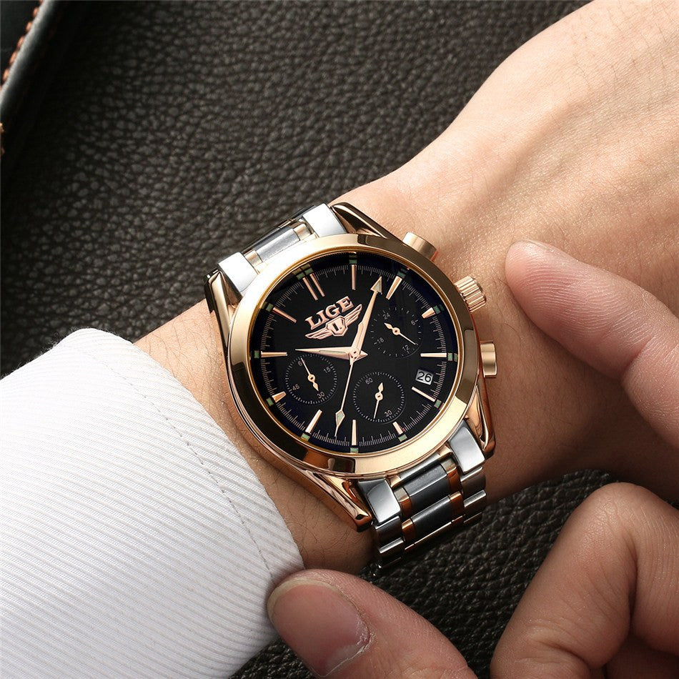 product products you casual sport men quartz uniquedesign handmade dress brand gaiety male black watches wristwatches profesionally leather man fashion new for luxury