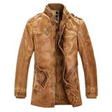 Mountainskin Slim Fit Leather Jackets