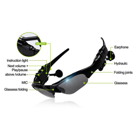 Wireless Bluetooth Polarized Sunglasses