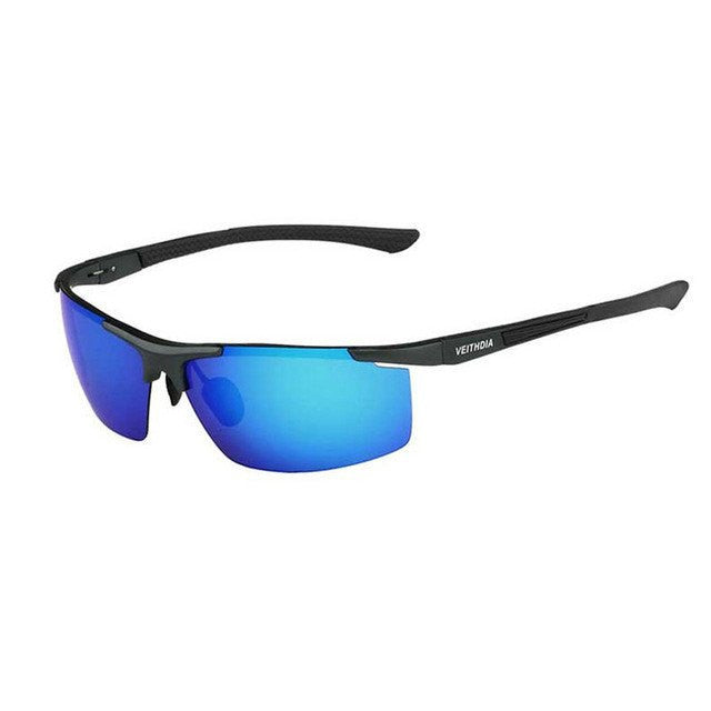 blue frame sunglasses