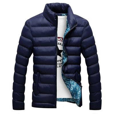 Men Cotton Blend Casual Thick Outwear Winter jackets