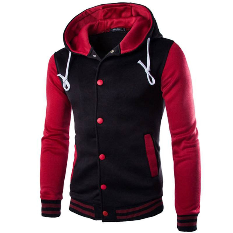 Hooded Baseball Varsity Jackets (16 colors) | Flawless value