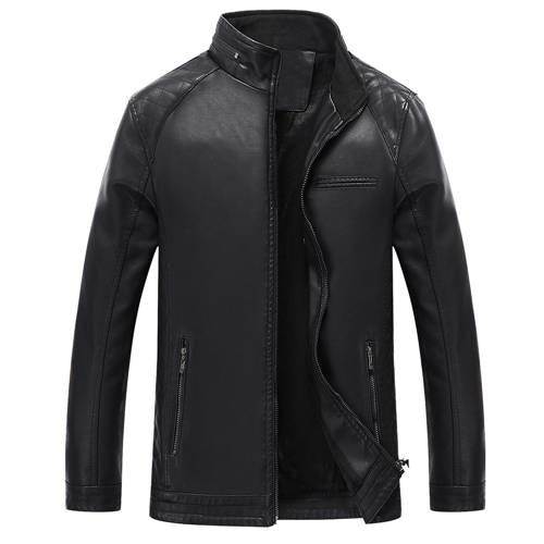 FGK Fashion collar Leather Jacket