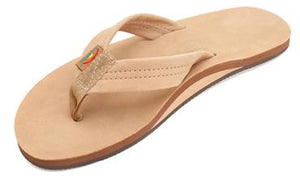 Rainbow Premier Classic Sierra Brown Thick Strap Leather Sandal Surf