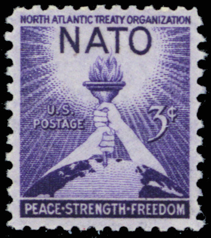 1008, MNH NATO Stamp Printed on Very Thin Paper ERROR
