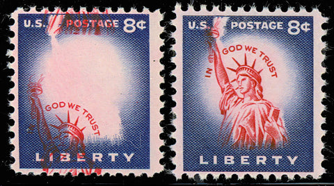 1041 Var 8 Cent LIBERTY Dramatic Vignette Color Shift Major Error