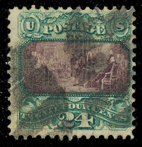 120 Used 24¢ F/VF - Nice Color And Sound!