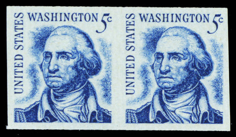 1304b, 5¢ Washington Imperforate Coil Pair ERROR - Mint XF NH