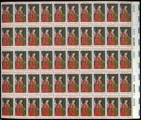 1363c Light Yellow Omitted ERROR Complete Sheet of 50 Cat $2,500.+