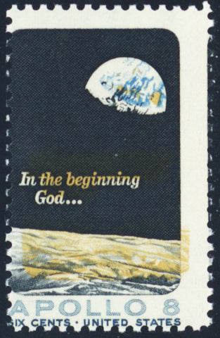 1371, Huge Color Shift ERROR 6¢ Apollo 8 Space Stamp MNH