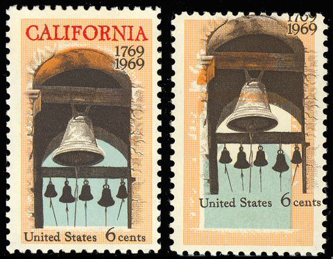 "1373 Red Color ""California"" MISSING From Stamp Major ERROR"