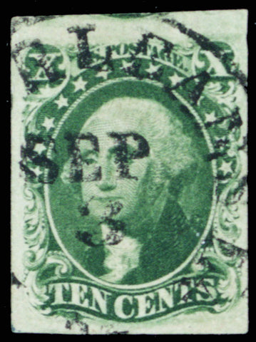 15, Used 10¢ Superb GEM With PSE Certificate