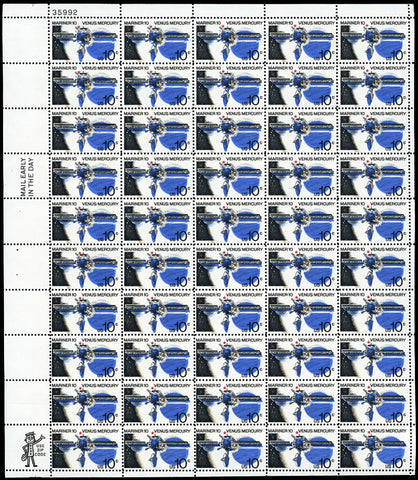 1557. Red & Blue Color Shift ERROR in Full Sheet of 50 Stamps