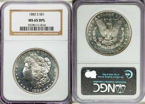 1882-S Morgan Dollar - NGC MS 65 DPL - DEEP PROOF LIKE GEM $3,800.00 Value