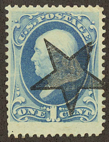 182, Used 1c WITH BOLD GLEN ALLEN STAR - Virginia - PRE-CANCEL VF