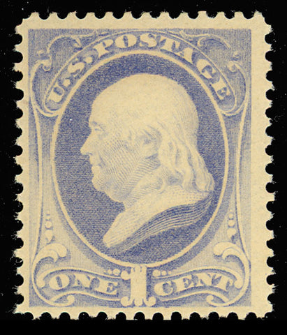 206 Mint OG NH 1¢ Franklin Very Fresh! Cat $225.00