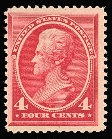 215 Mint Fine OG NH 4¢ Jefferson - Very Fresh Cat $550.00