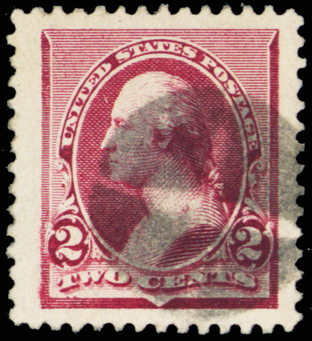 219D, Used 2¢ XF-Superb With JUMBO Margins PFC Graded 90J
