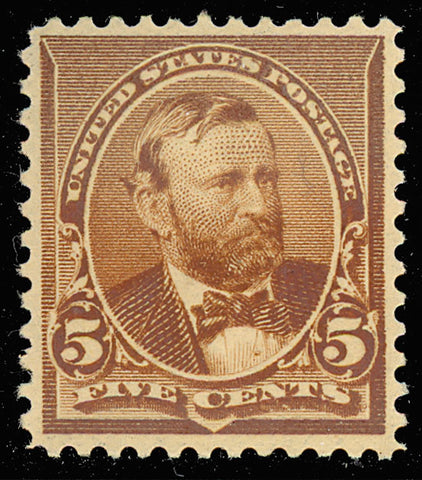 223 Mint XF OG NH 5¢ Grant Very Fresh & Well Centered