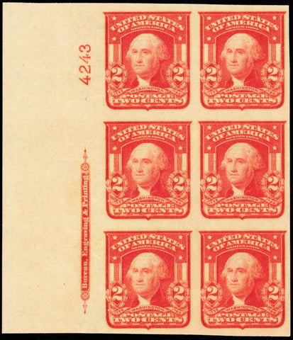 320, Mint Superb NH Plate Block of Six Stamps Cat $325.00