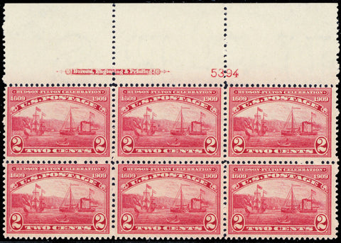 372, Mint NH 2¢ Top Plate Block Of Six Stamps Cat $425.00