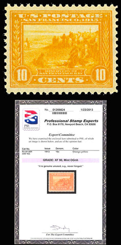 400, Mint NH 10c - XF With PSE Cert GRADED 90 - Looks better!