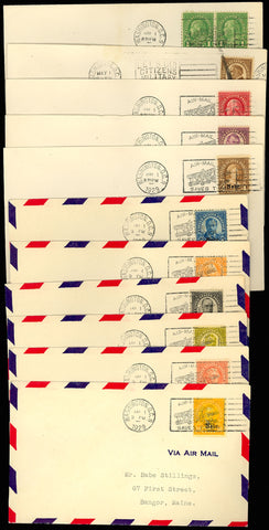 658-679 Kansas/Nebraska Matched Set of FDC's VF Cat $2,560.00