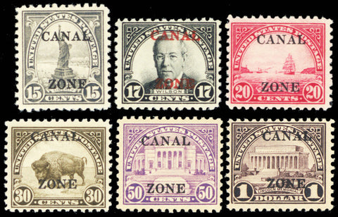 Canal Zone 84-95, Mint OG Complete Set of 12 Stamps Cat $622.00