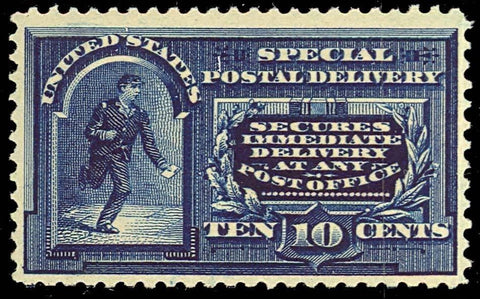 E5, Mint 10¢ VF OG VLH - DEEP RICH COLOR! Cat $210.00
